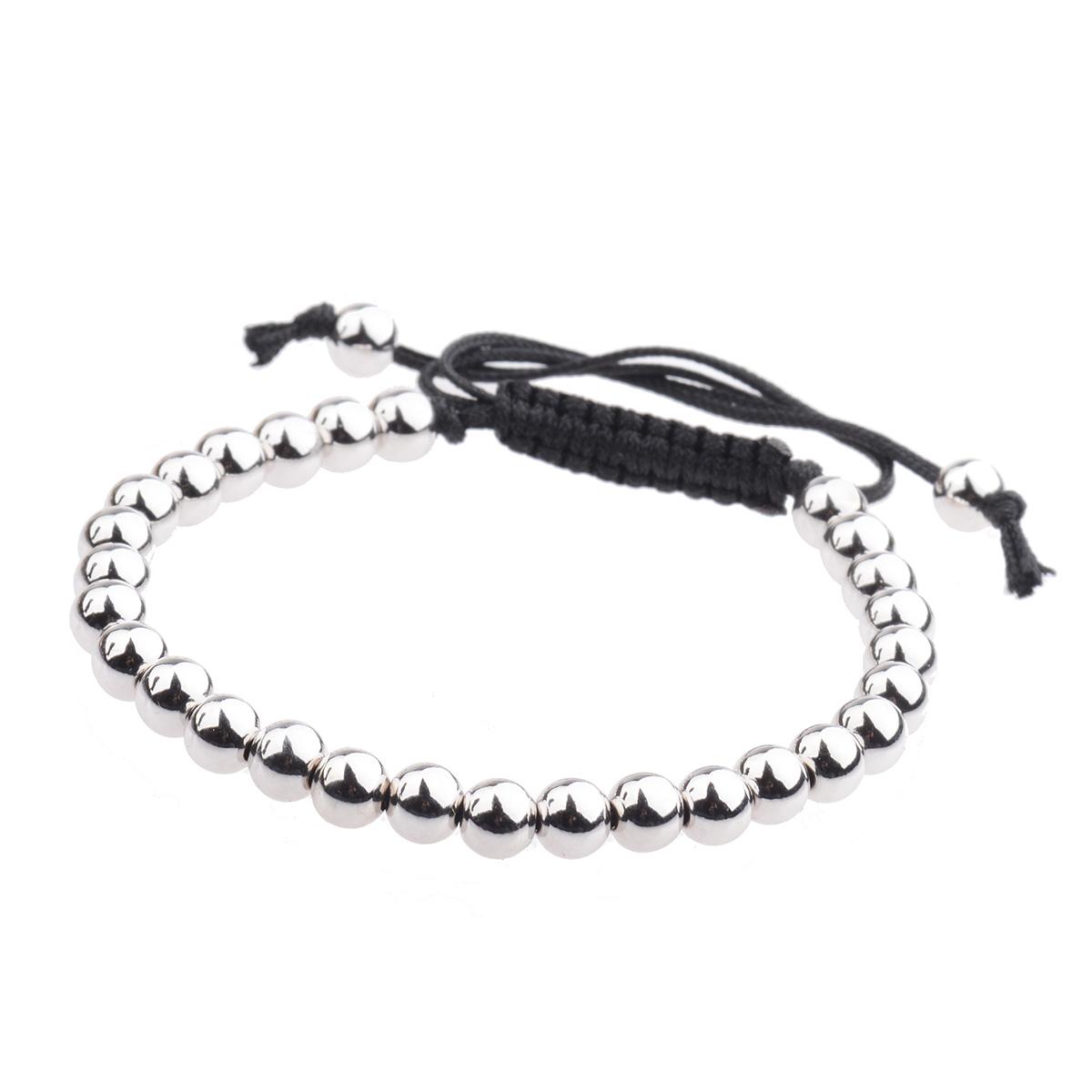 Fashion-Mens-Bracelet-24kt-Gold-Plated-Micro-Pave-Zircon-Macrame-Bracelets-6MM thumbnail 14