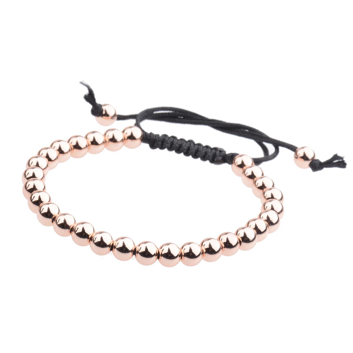 Fashion-Mens-Bracelet-24kt-Gold-Plated-Micro-Pave-Zircon-Macrame-Bracelets-6MM thumbnail 18