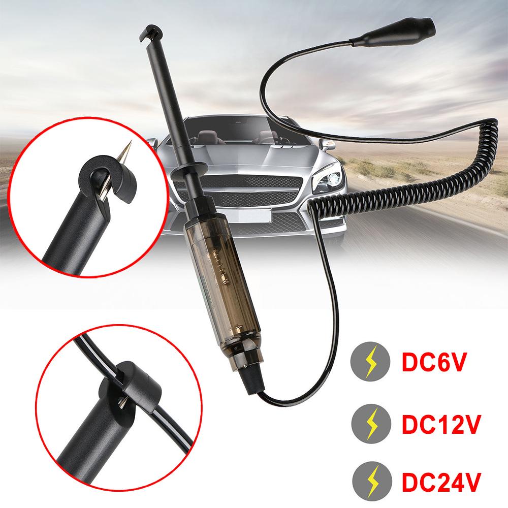 Universal Car Truck Circuit Tester Test Pencil Light Hook Probe DC 6V//12V//24V-US