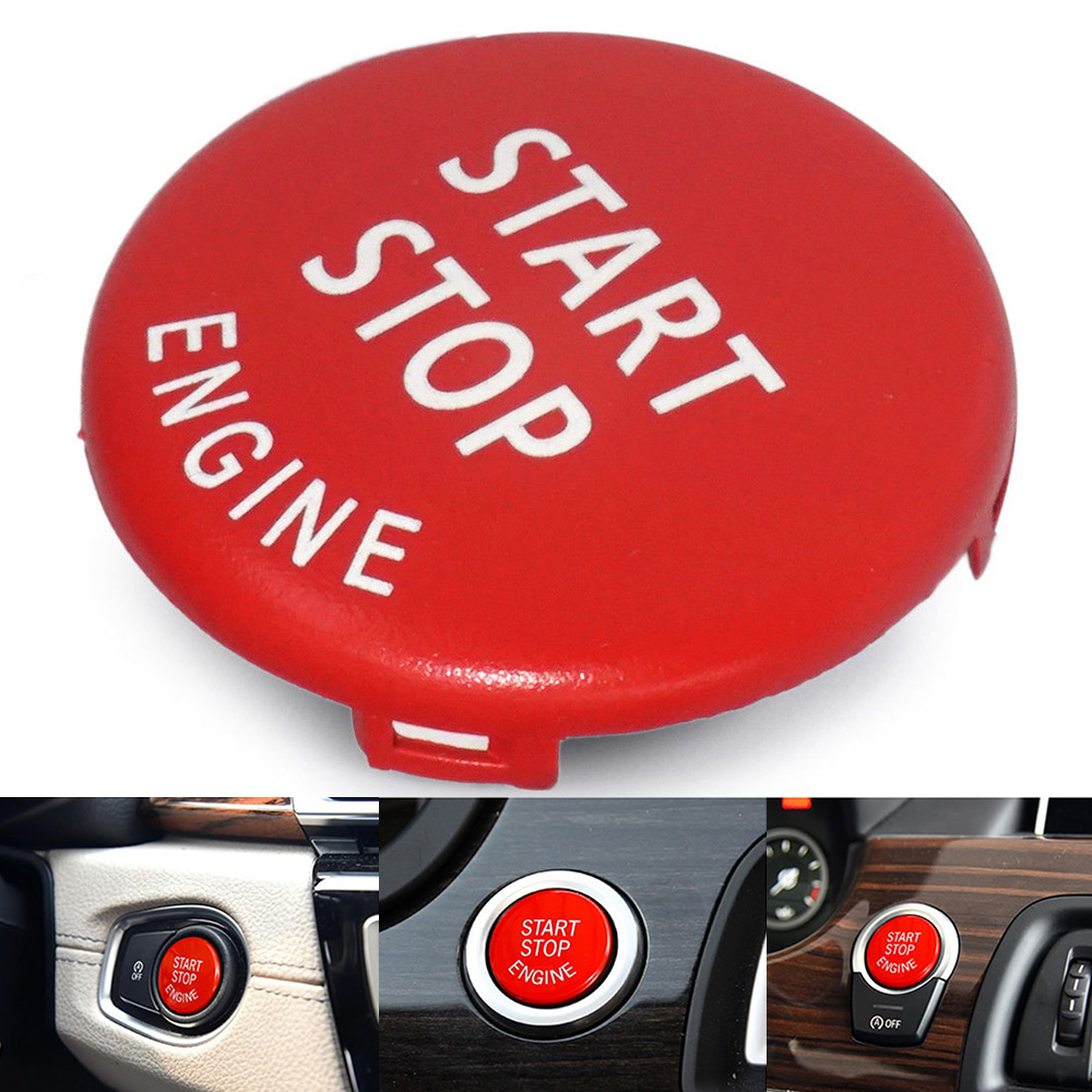Start Stop Engine Button Switch Red Cover For BMW 3 Series