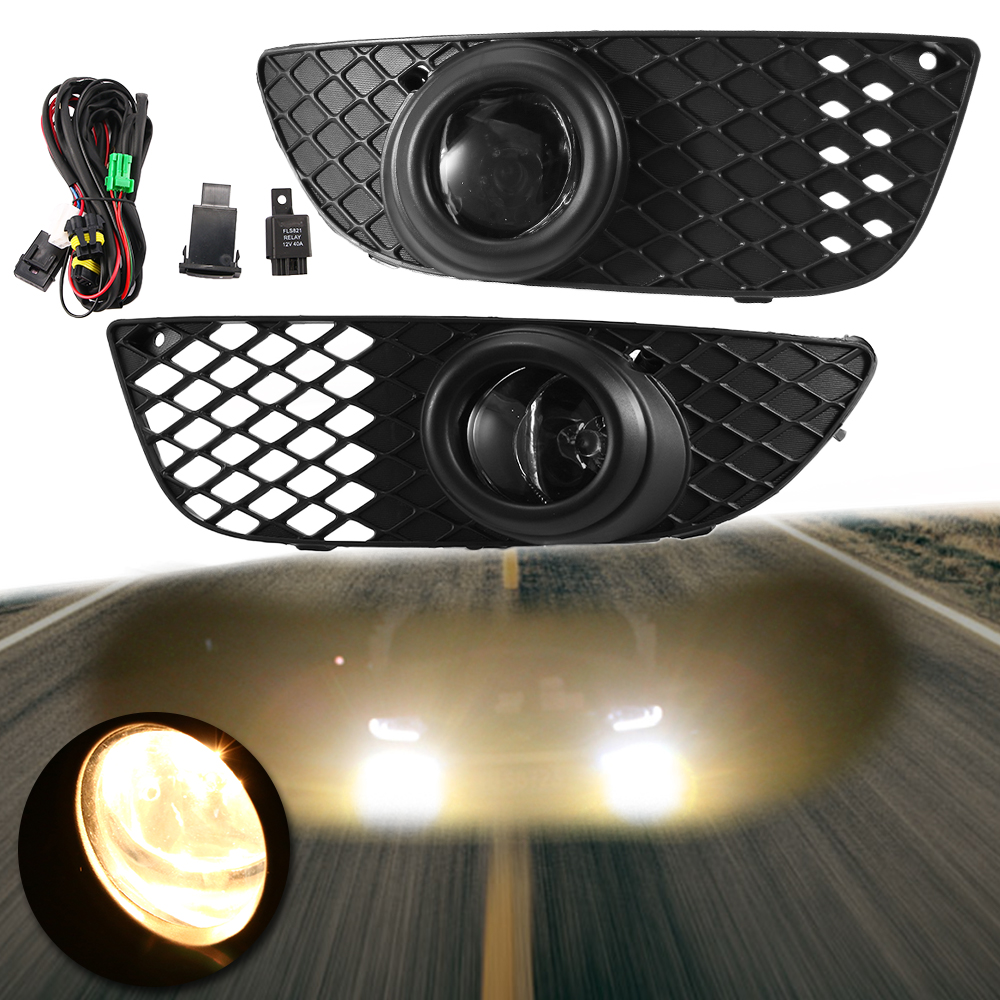 07-15 MITSUBISHI LANCER Fog Lights Driving Lamp Kit w// switch wiring CLEAR