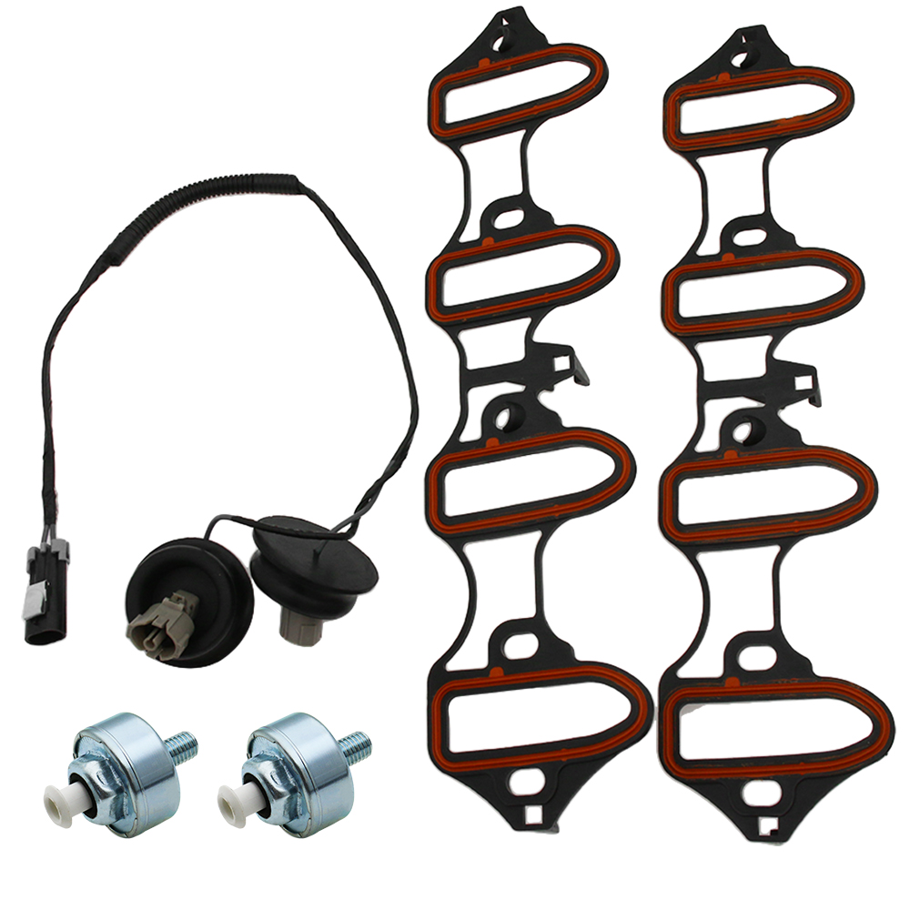 5pc Knock Sensor Harness Intake Manifold Gasket Kit Set