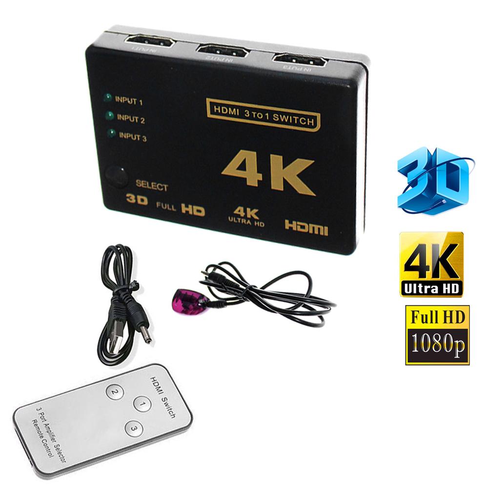1080P 4K HDMI Splitter Full HD 1 In 4 Out Verteiler 4 Port Switch für 3D HDTV PC