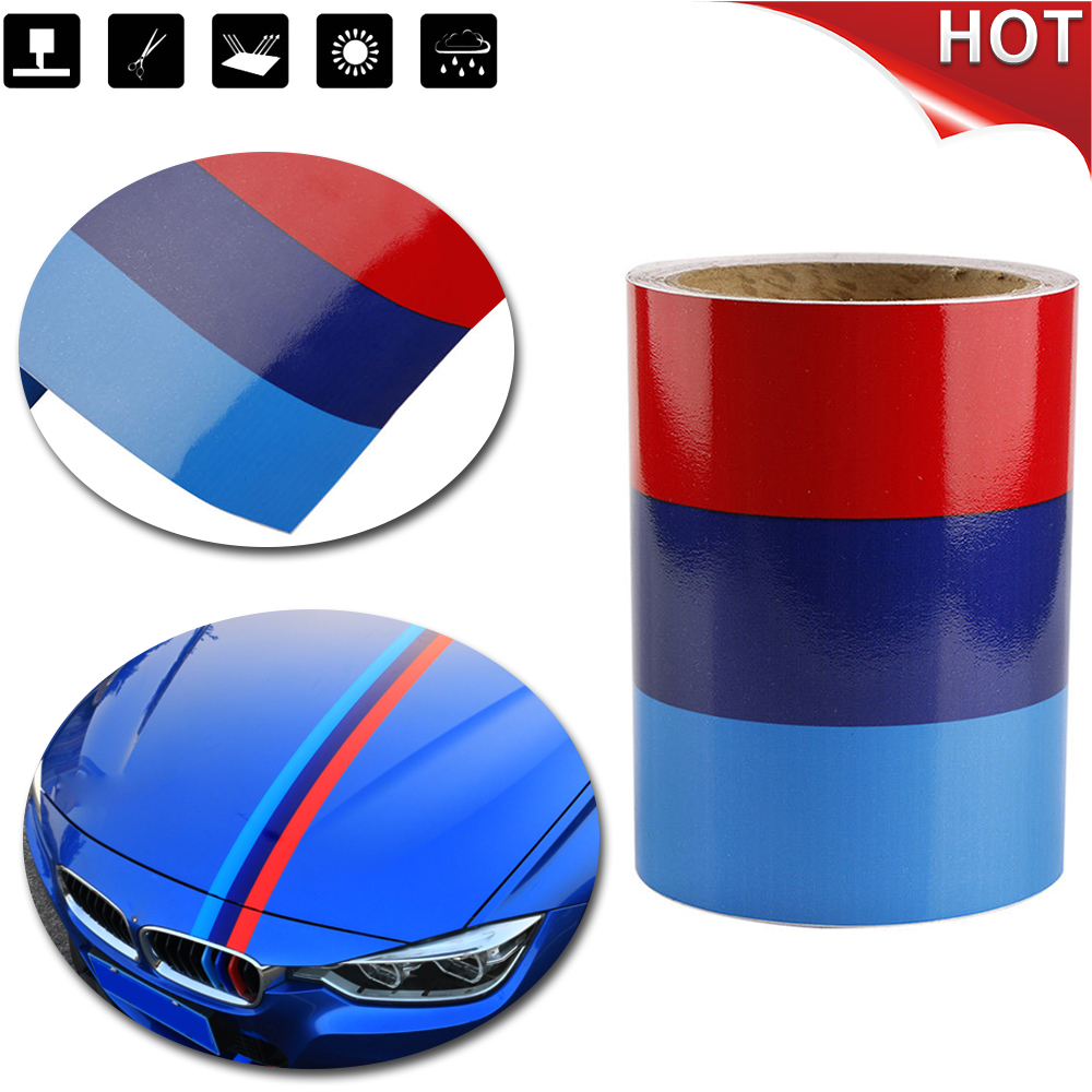 5FT M-Colored Car Door Body Stripe Hook Decal Sticker Decoration For BMW IN USA