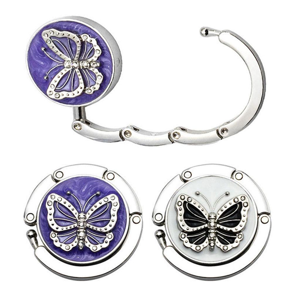 Purple Flower on Striped Background Badge Reel Retractable Badge Holder 455E