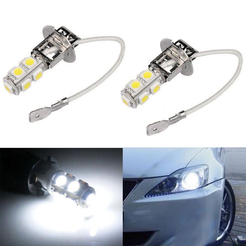 2x 18SMD H10 9005 Car LED Fog Tail Driving HeadLight Lamp Bulb Super White 6000k