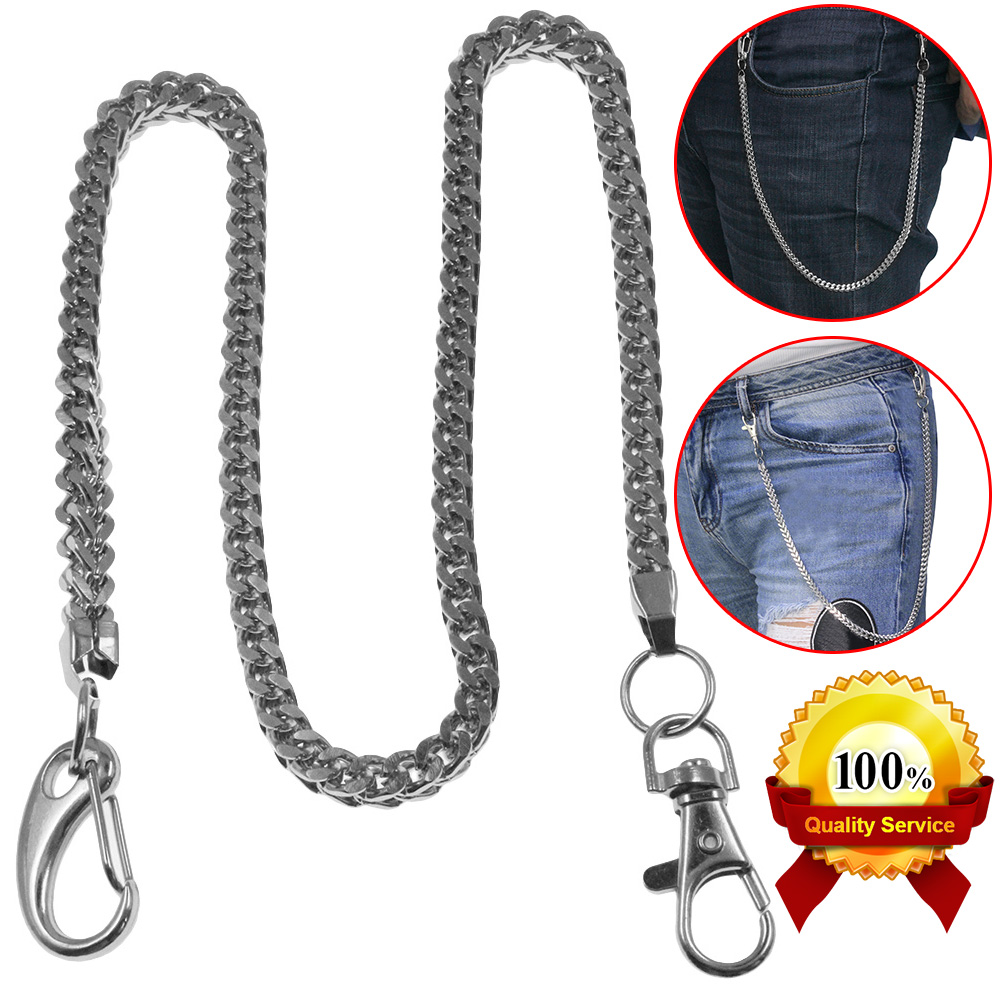 "14/"" BLK CS1114BLK Basic Strong Leash Heavy Biker Trucker Key Jean Wallet Chain"