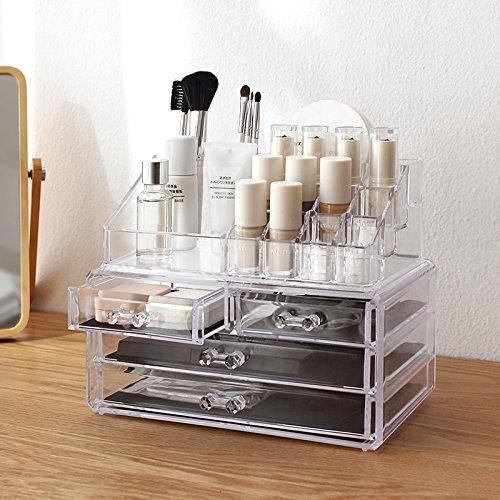 acryl kosmetik aufbewahrung organizer st nder makeup schubladenbox kosmetikbox ebay. Black Bedroom Furniture Sets. Home Design Ideas