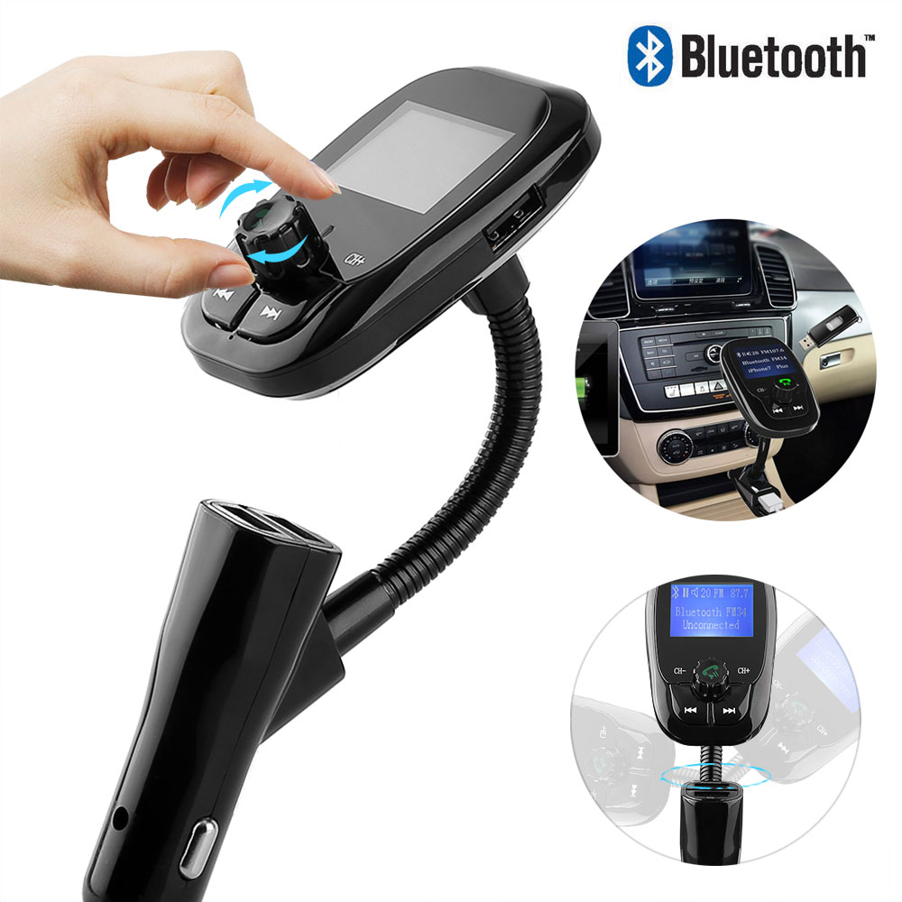 auto bluetooth fm transmitter mp3 player adapter 2 usb. Black Bedroom Furniture Sets. Home Design Ideas