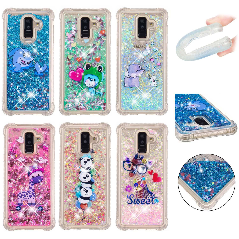 250be282696e95 Liquid Glitter Bling Quicksand Case Cover for Samsung A6 A8 J4 J6 Plus A7  2018