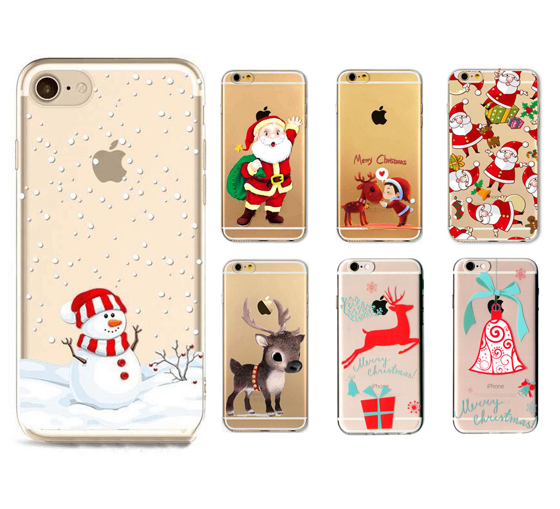 Christmas Festive Santa Reindeer Phone Case Cover For iPhone 5 S SE ...