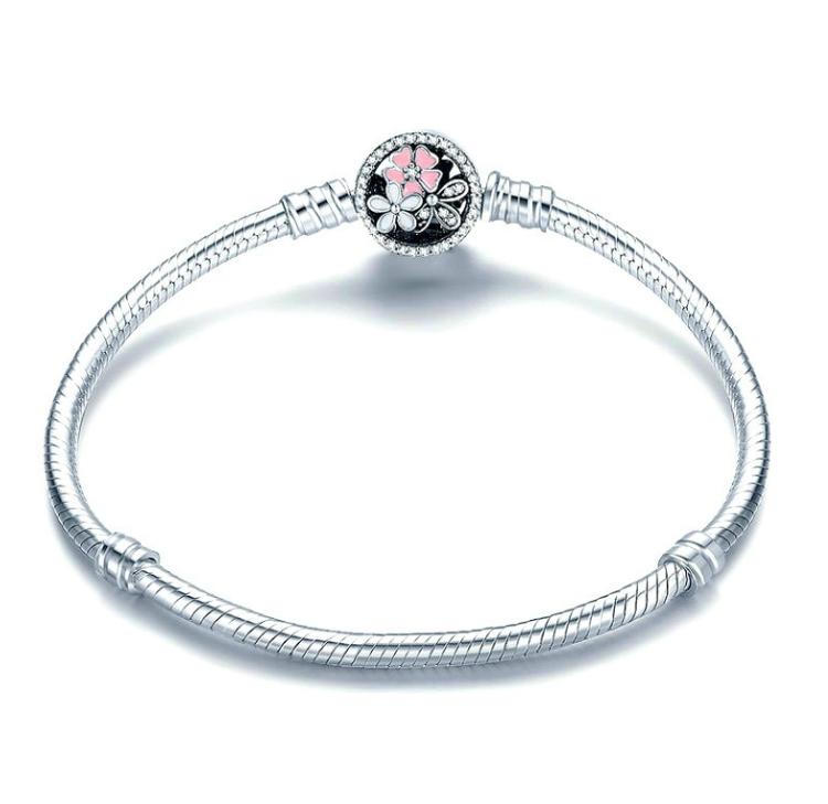 Fashion 925 Silver Zircon Owl Bangle European Charm Bracelet Fit Women Size Pick