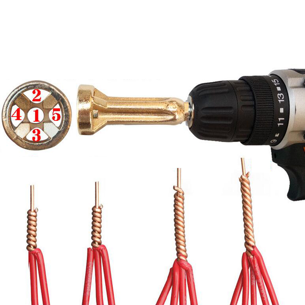 1.5-2.5-4-6 Square Universal Cable Connector Quick Stripper Electrical Drill Bit