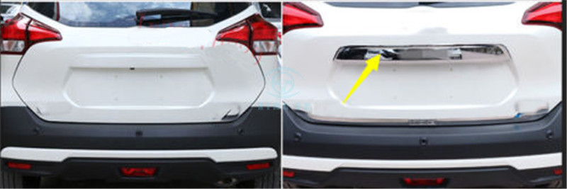 ABS Chrome For Nissan Kicks 2017-2018 1pc Rear Bumper Trunk Lid Protector Board