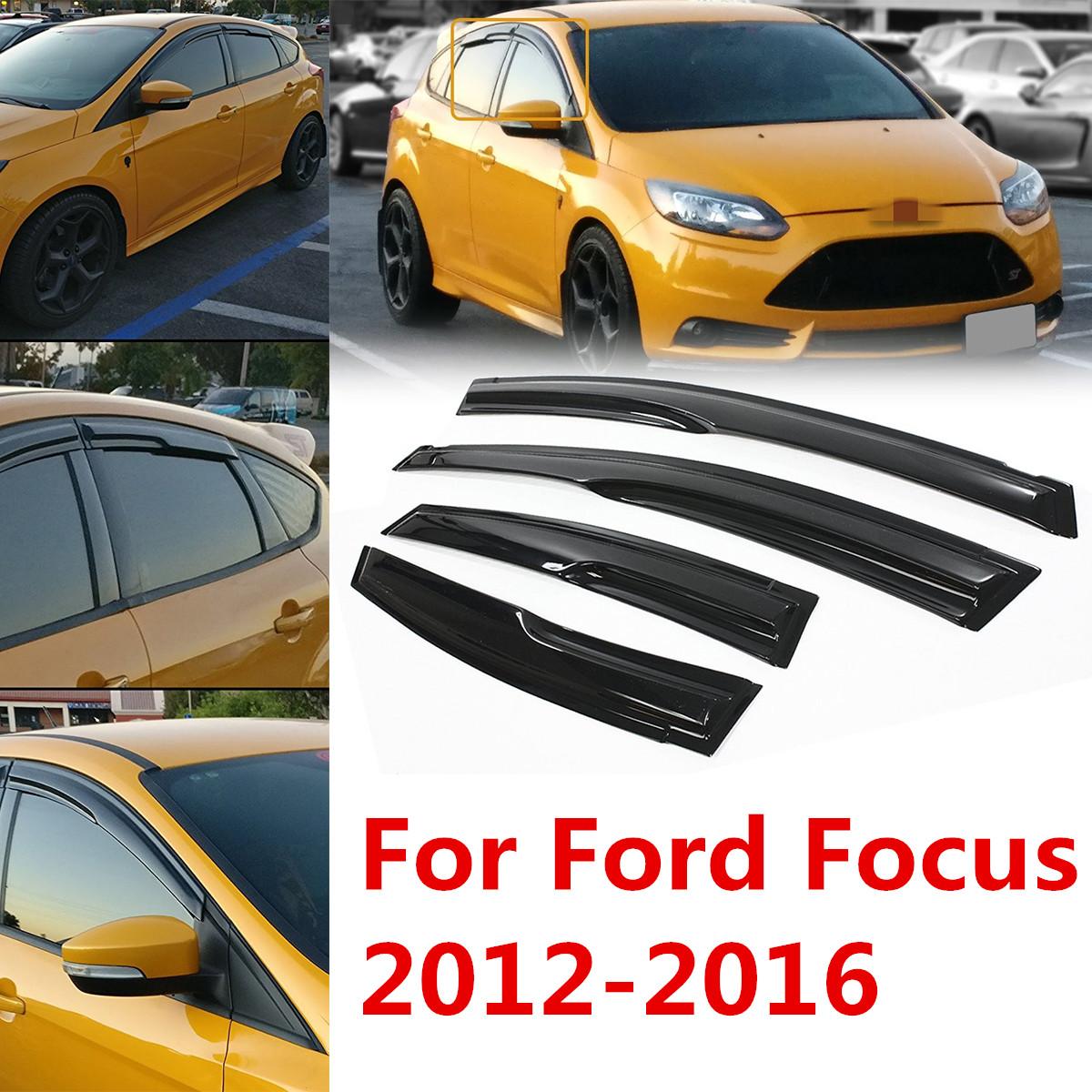 For 2012 2016 2013 2014 2015 Ford Focus 4 Door Sedan Window Visor Hatchback Shade 4pcs