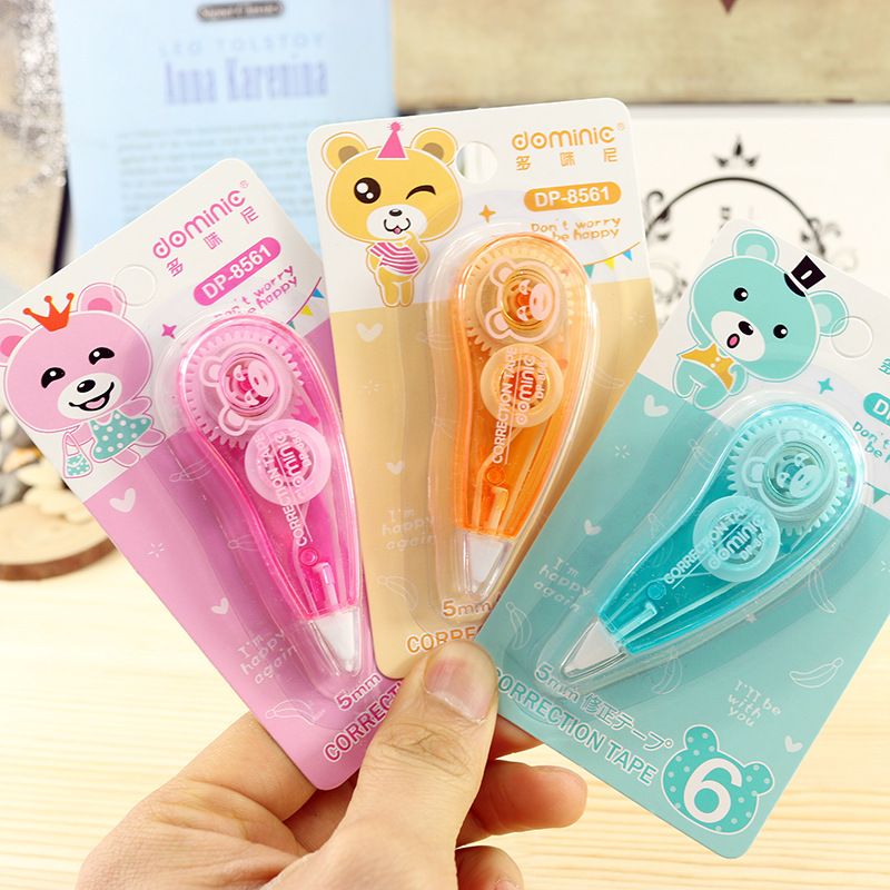 1Pcs Cute Correction Tape Mini Roller White Out Eraser School Office Stationery