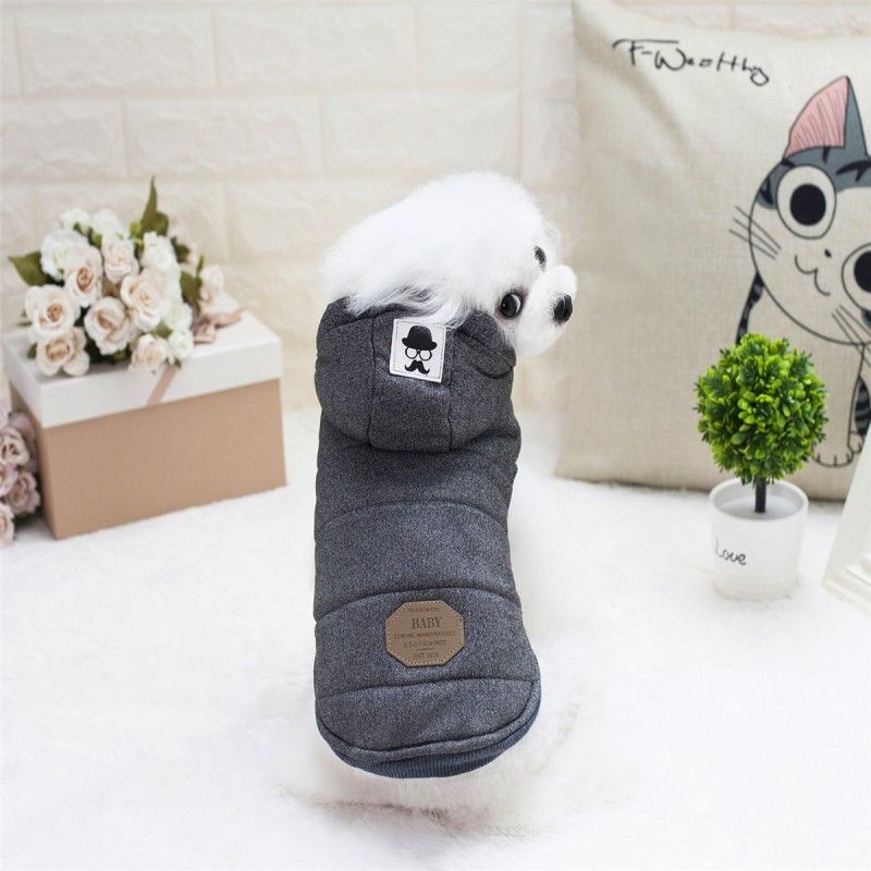 Winter Dog Coats Pet Cat Puppy Chihuahua Clothes Hoodie Warm for Small Dog S~XXL 12