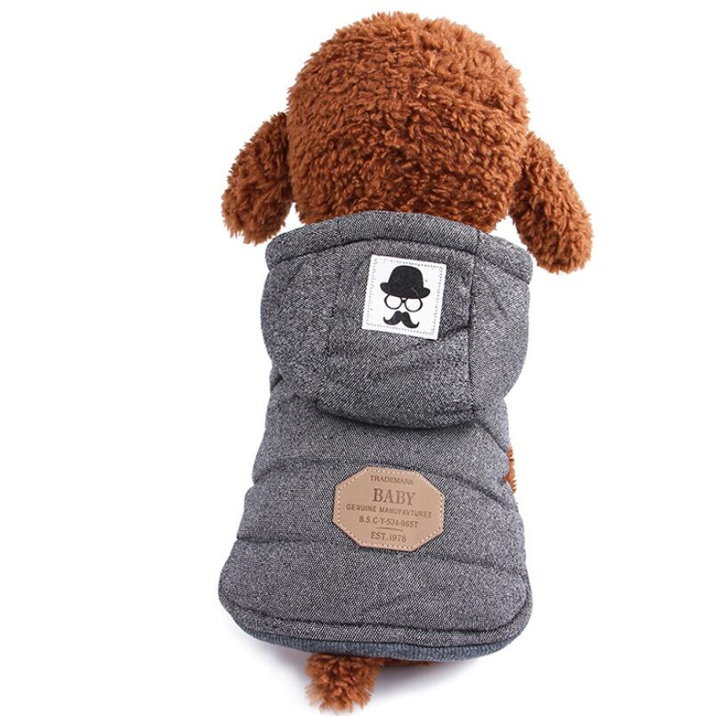 Winter Dog Coats Pet Cat Puppy Chihuahua Clothes Hoodie Warm for Small Dog S~XXL 13