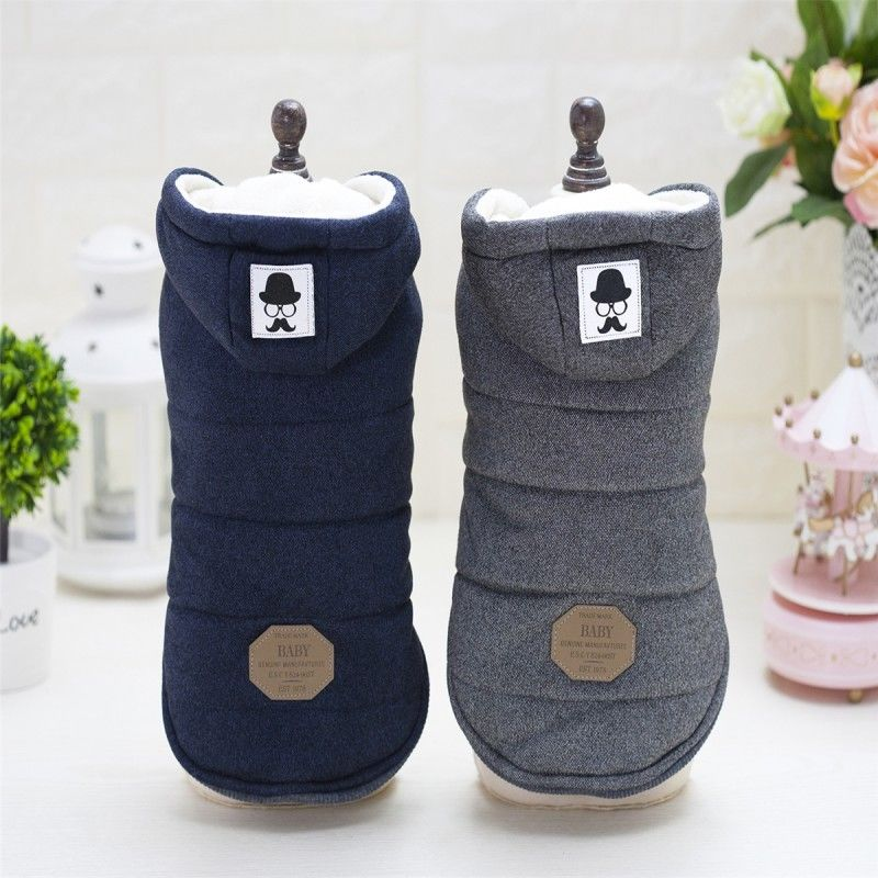 Winter Dog Coats Pet Cat Puppy Chihuahua Clothes Hoodie Warm for Small Dog S~XXL 9