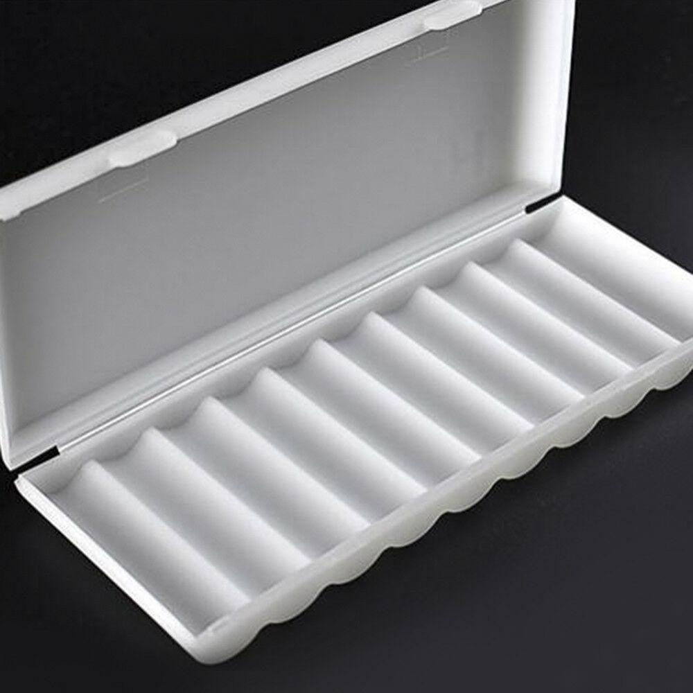 AA AAA Battery Storage Case Box Organizer Holder White for 10pcs AA AAA Battery