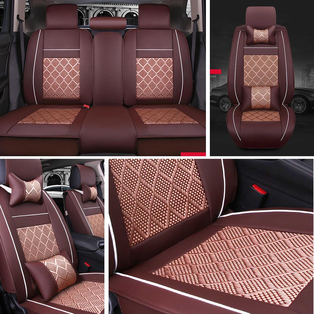 Seat Covers For Motor Neoprene Beige Black Front Rear Full Set For Motors