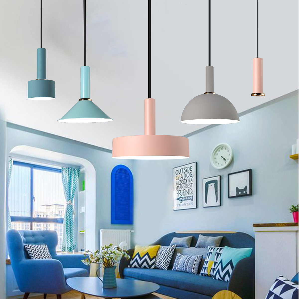 Kitchen Lighting Fixture Sets: Nordic Pendant Ceiling Light Modern Kitchen Fixture Lamp