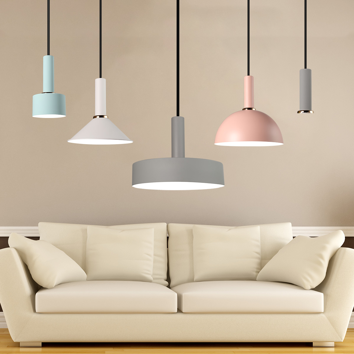 Kitchen Lighting Fixture Sets: Modern Fixture Pendant Light Set Nordic Ceiling Lamp Metal