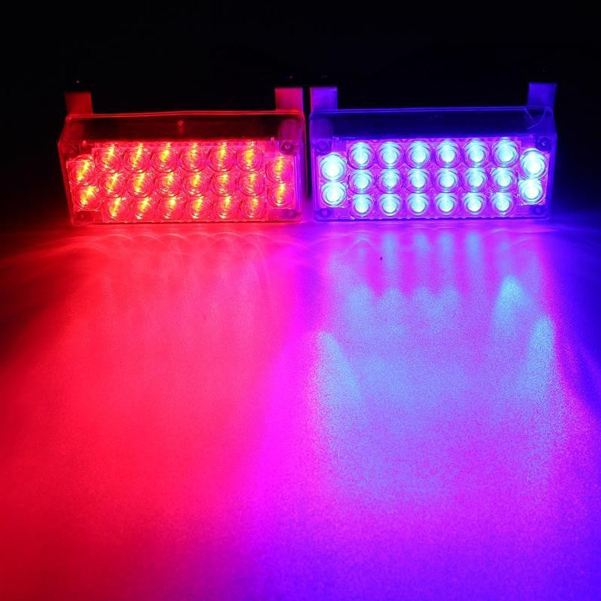 2 x 22 LED Car Light Lamp Blasting Flash 3 Flashing Emergency Bright lights New