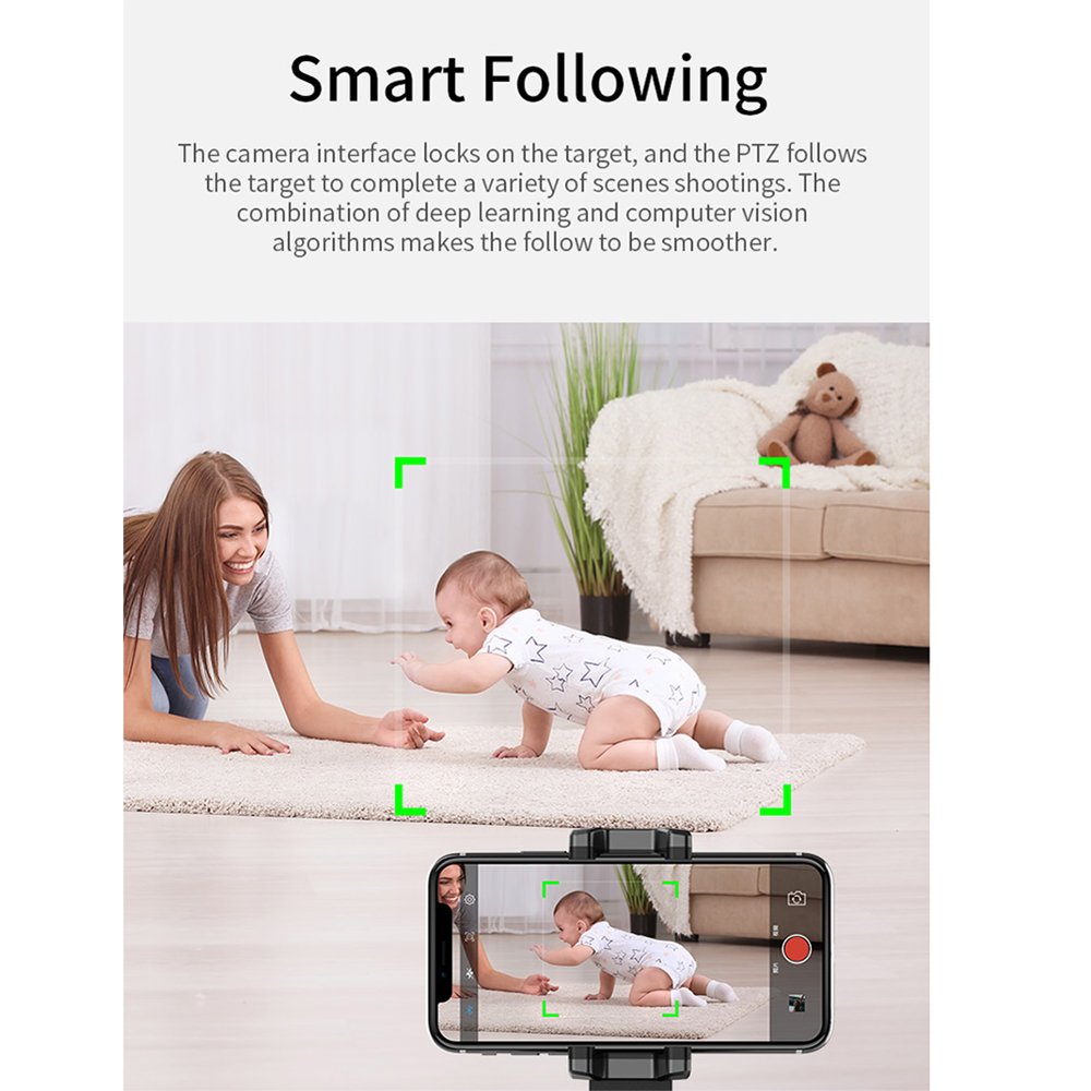 360 Rotation AI Robot Auto tracking rotatable Smart Following Face /& Object Tracking Intelligent shootings Phone Tracking mount personal AI robot The cameraman Sensor Holder me photo Tripod Apai Genie