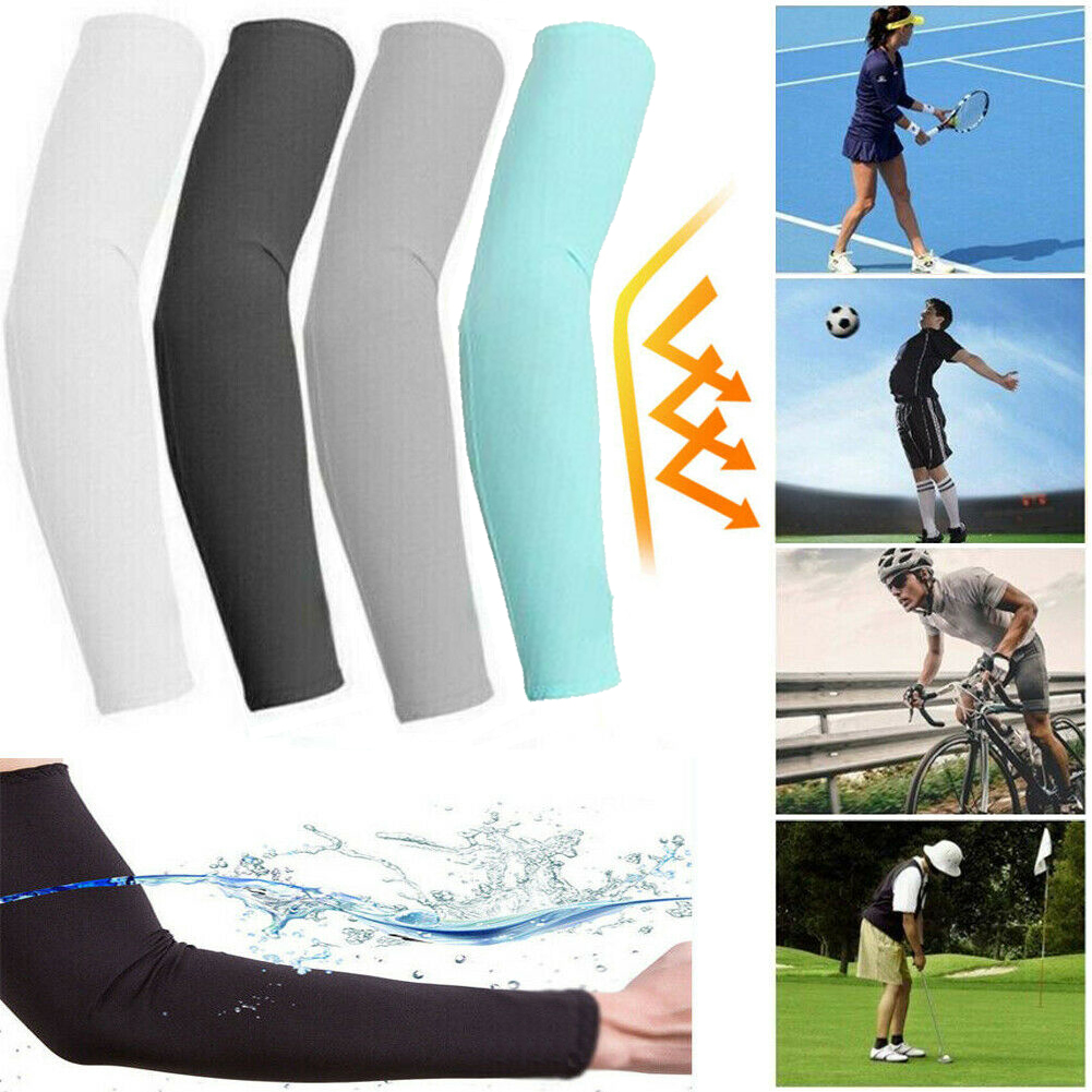 5 Pairs Cooling Arm Sleeves Cover UV Sun Protection For Men Women Unisex US Ship