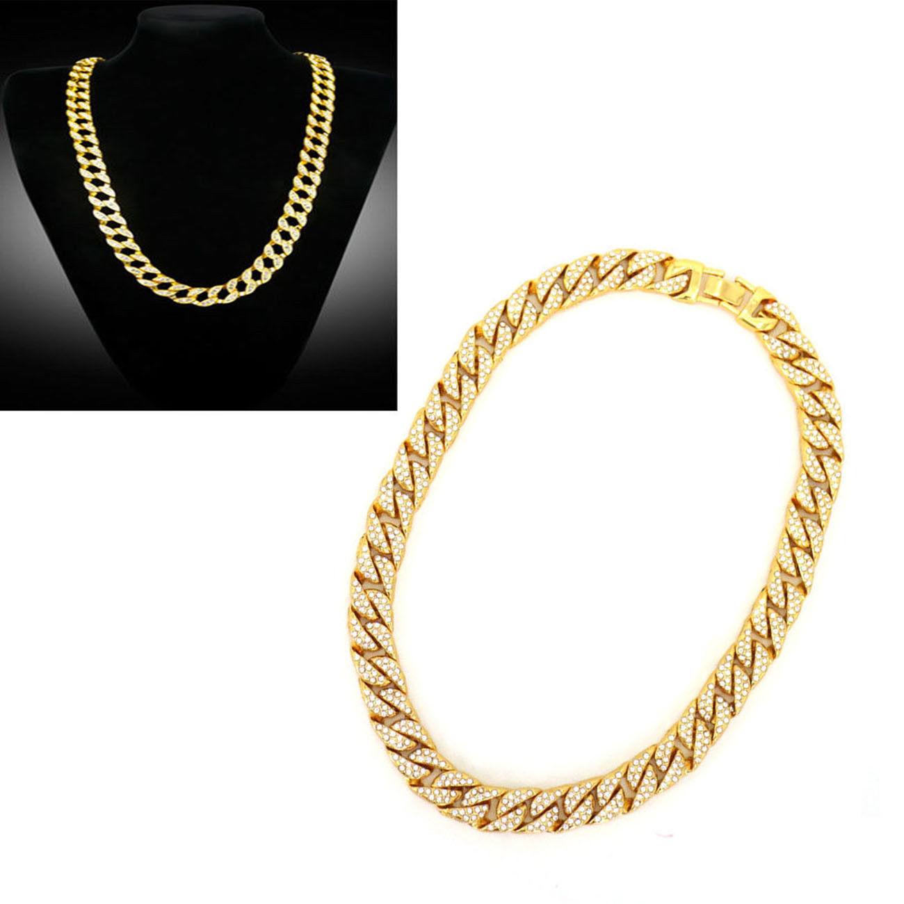 b0656a0cbc6ee2 Details about 18K Hip Hop Men Quavo Gold PT Iced Out 15mm 16