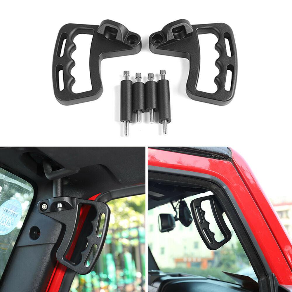 WYYINLI 2 Pack Front Grab Handles Grip Handle Steel Grab Bar fit Jeep Wrangler 2007-2017 2//4 Door/ 4 Door Red
