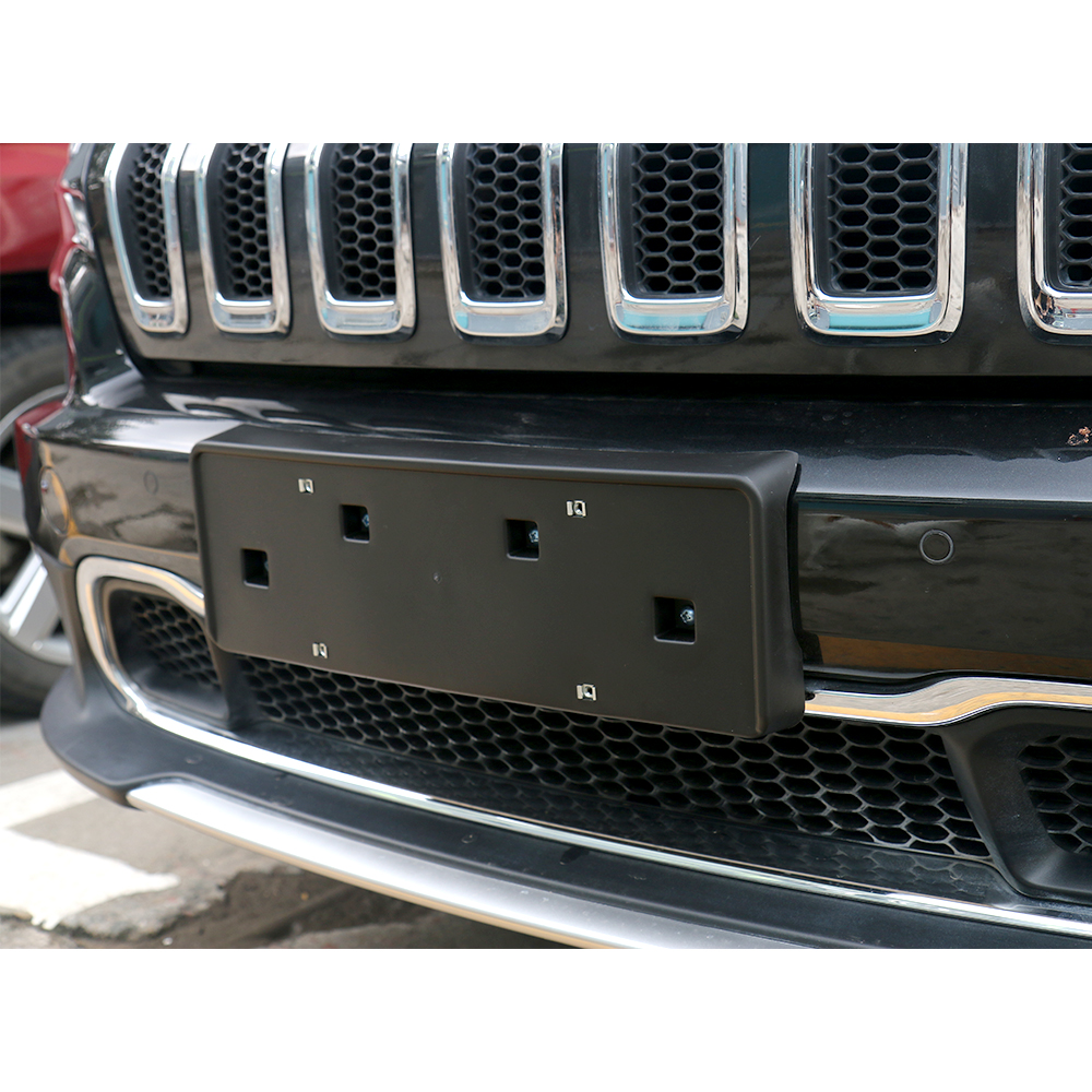 Black Front License Plate Mounting Bracket Holder For 16