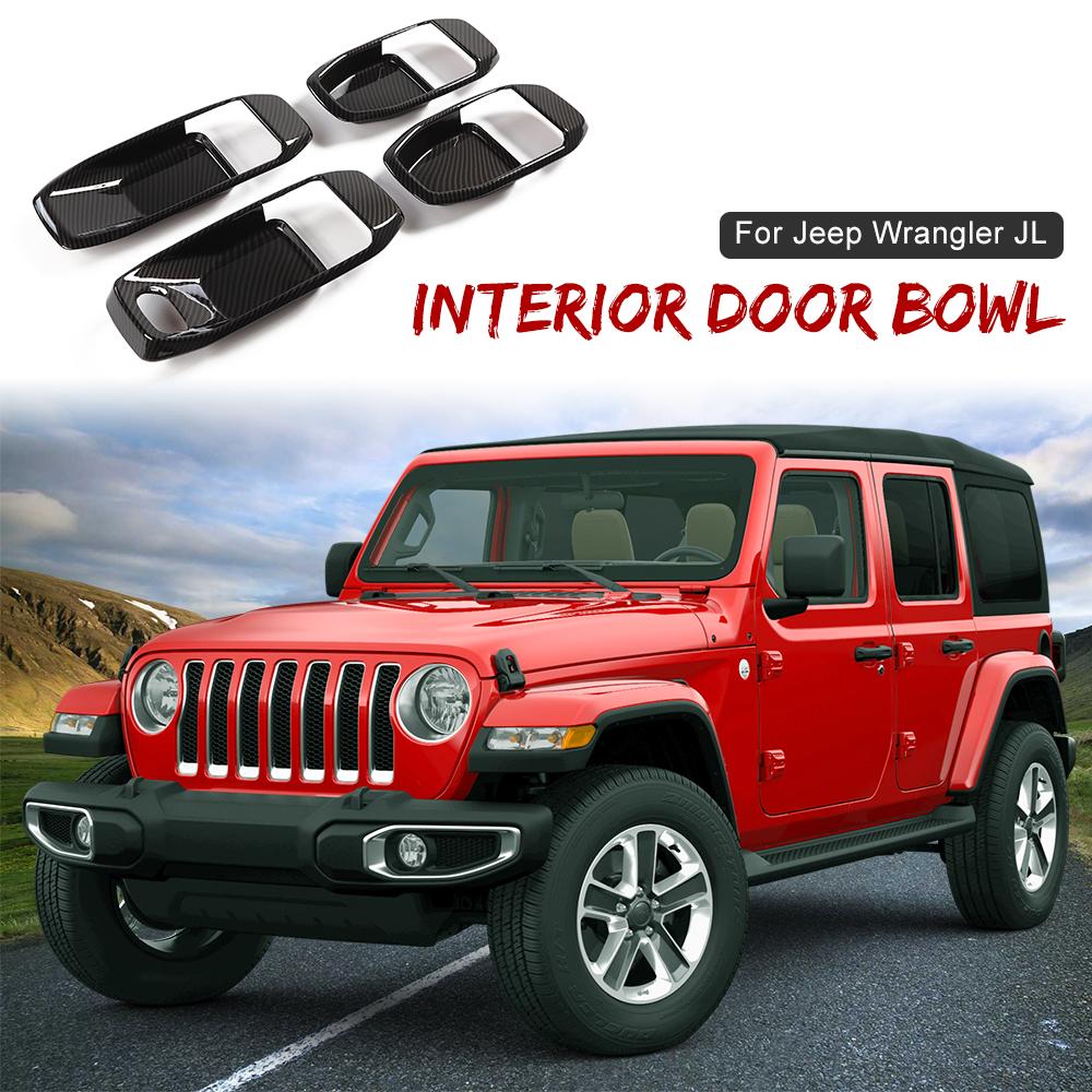 Carbon fiber Start Stop Button Ring Decor Trim For 2018-2020 Jeep Wrangler JL