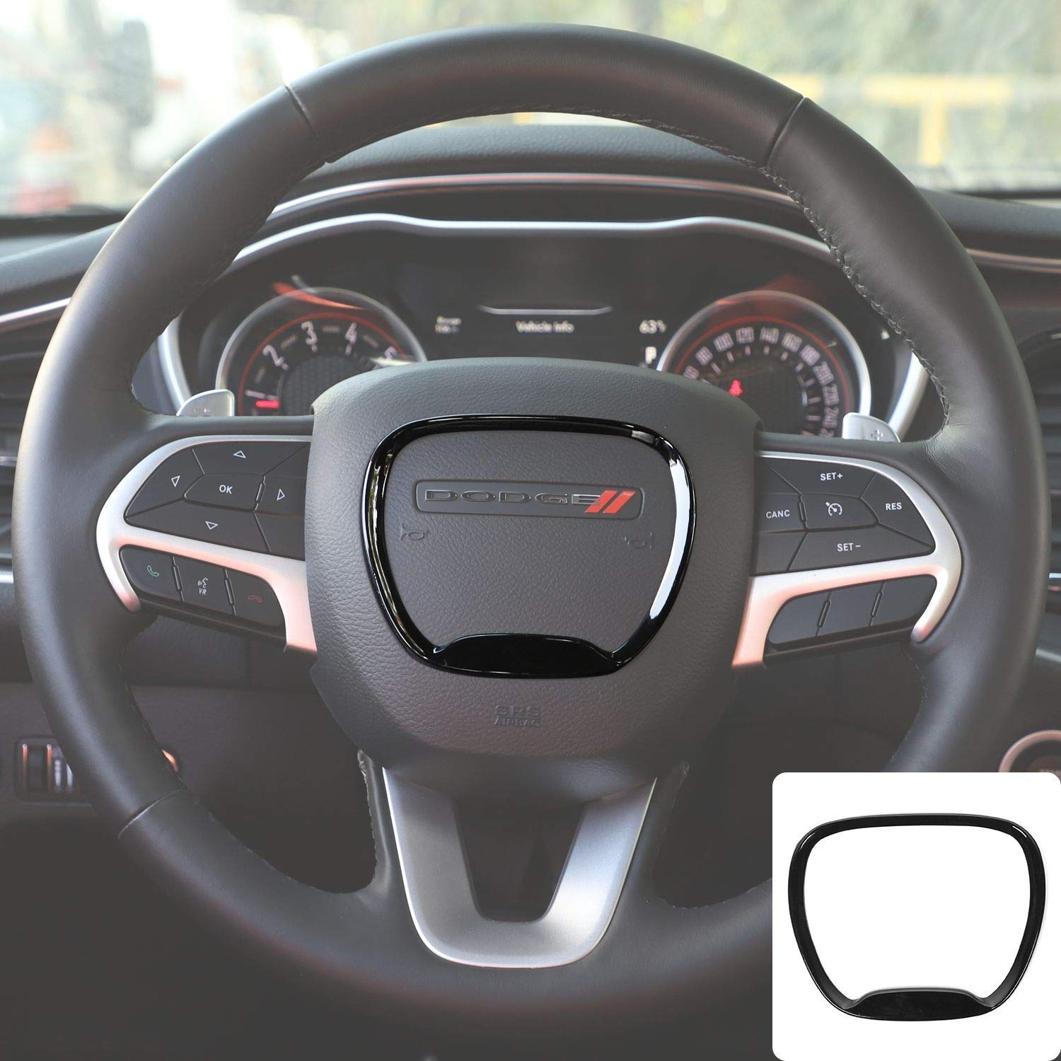 For Dodge Challenger Charger Durango 2015 2020 Interior Accessories Steering Wheel Trim Cover Emblem Kit Air Conditioner Switch Cd Button Knob Decal Trim Rings Red Steering Accessories Interior Accessories