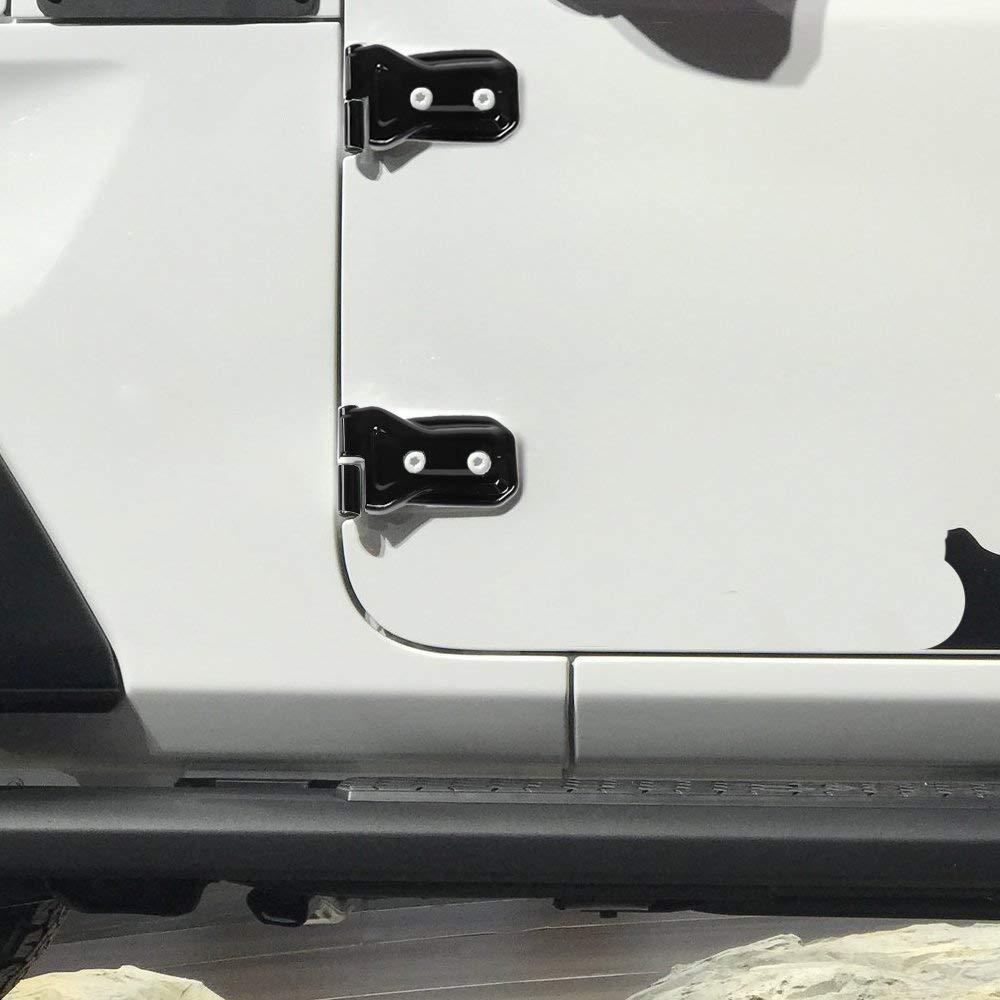 8pcs Abs Black Door Hinge Covers Trim For 18 Jeep Wrangler Jl 4 Door