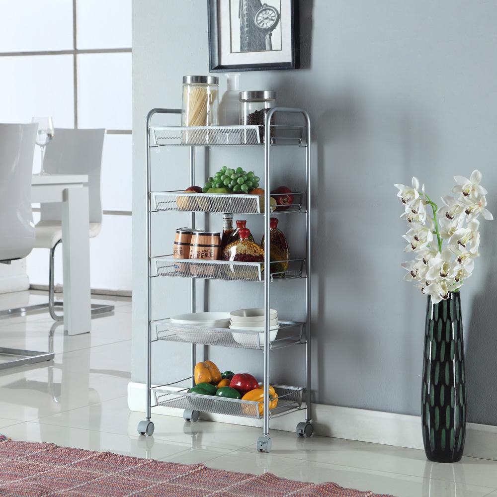 Honeycomb Mesh Style Removable Storage Cart Slim Rack Kitchen ...
