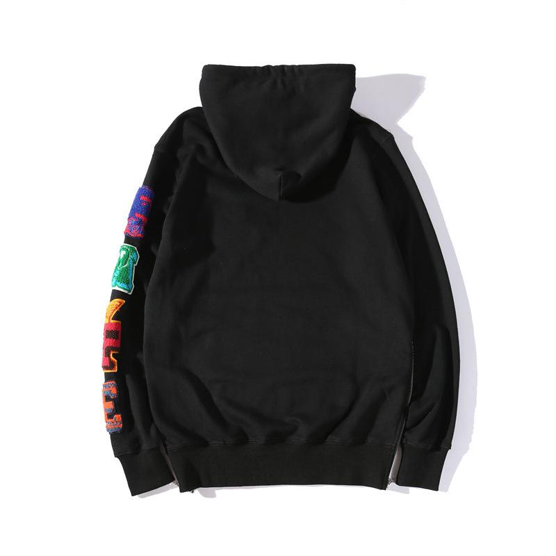 Bape A Bathing Ape Hoodie Sweatshirt Hooded Black Pullover Loose Jumper Sweater