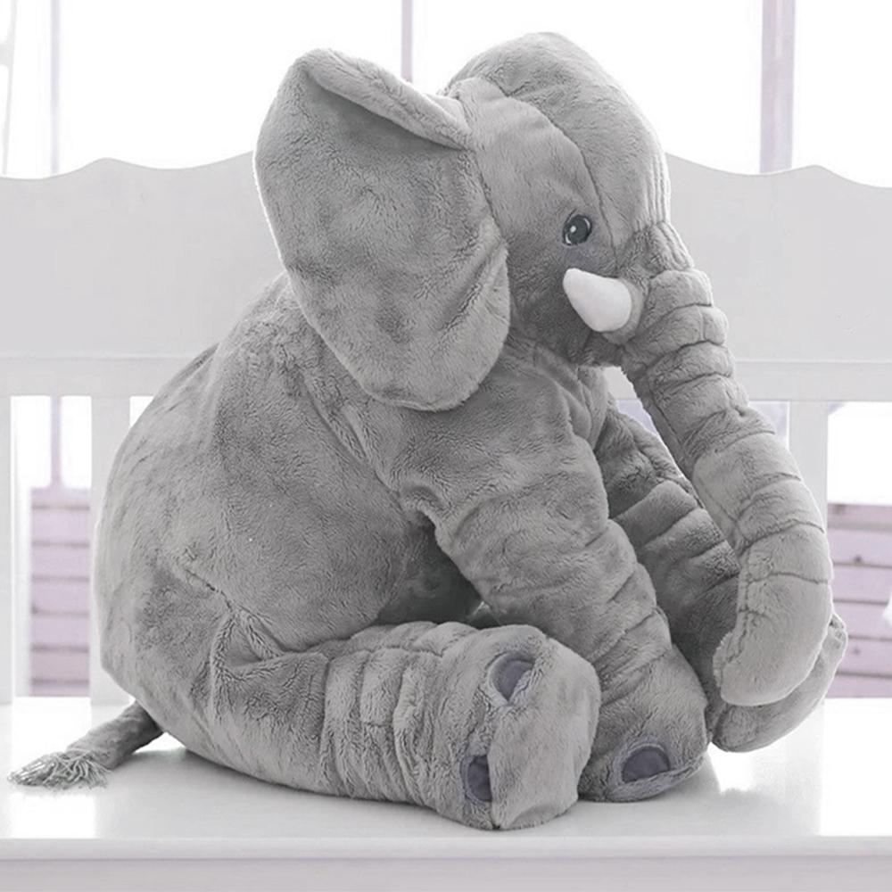 60CM Elefant Kuscheltier zum Einschlafen Baby Kleinkind Plüschelefant Grau Gift!