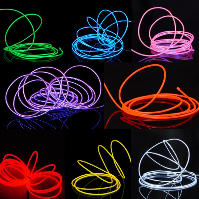 Details About El Light Cable Strip Led Neon Lighting Clothing Car Waterproof