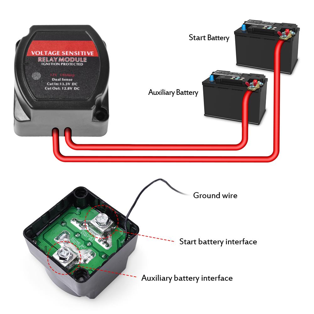 Mictuning 12v 140a Smart Dual Battery Isolator Vsr Voltage