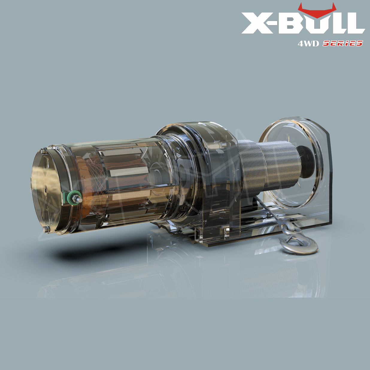 X-BULL 3000LBS /1361KGS Electric Winch Synthetic Rope 12V 10M Wireless ATV 4WD 3
