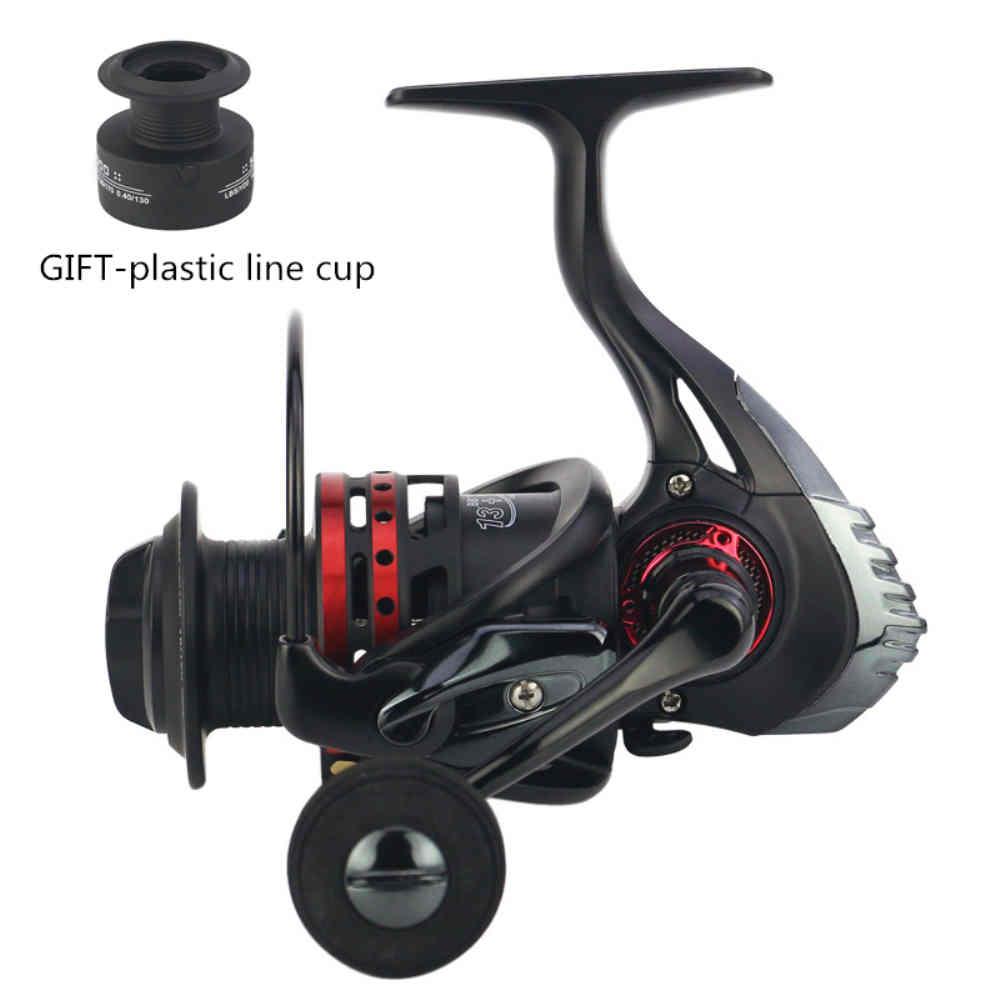 Ultra Smooth 13BB Spinning Reel Metal Spool Folding Arm Saltwater Fishing Reel