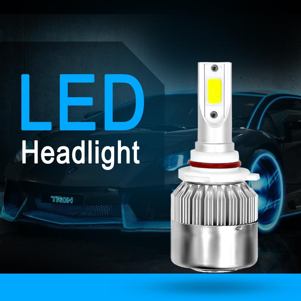 2x 9005 H10 Hb3 Cob Led C6 Headlight Kit Fog Light 6000k