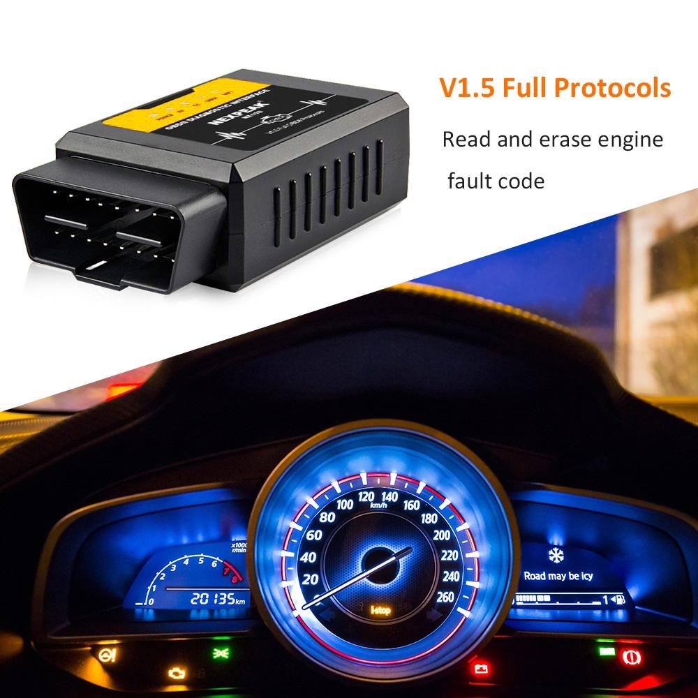 ELM327 WiFi OBDII Car Diagnostic Scanner Code Reader For
