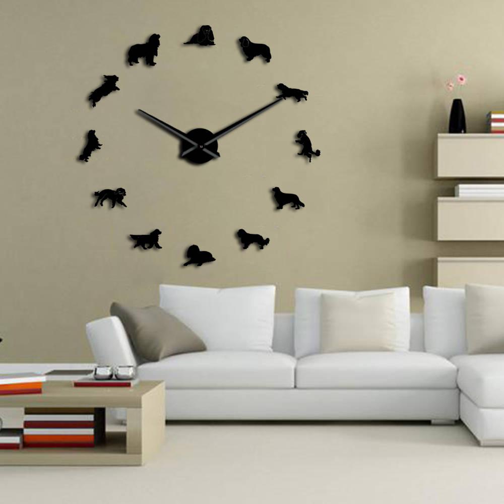 Cavalier King Charles Spaniel Diy Large Wall Clock Frameless Pet Shop Wall Art Ebay