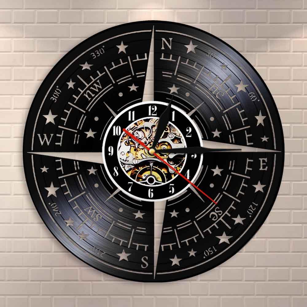 Details About Comp Wall Decor Modern Design Clock Nautical Vinyl Record