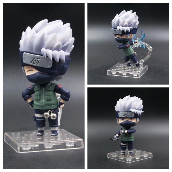 Anime Nendoroid 724 Naruto Shippuden Hatake Kakashi Mini PVC Figure New In Box