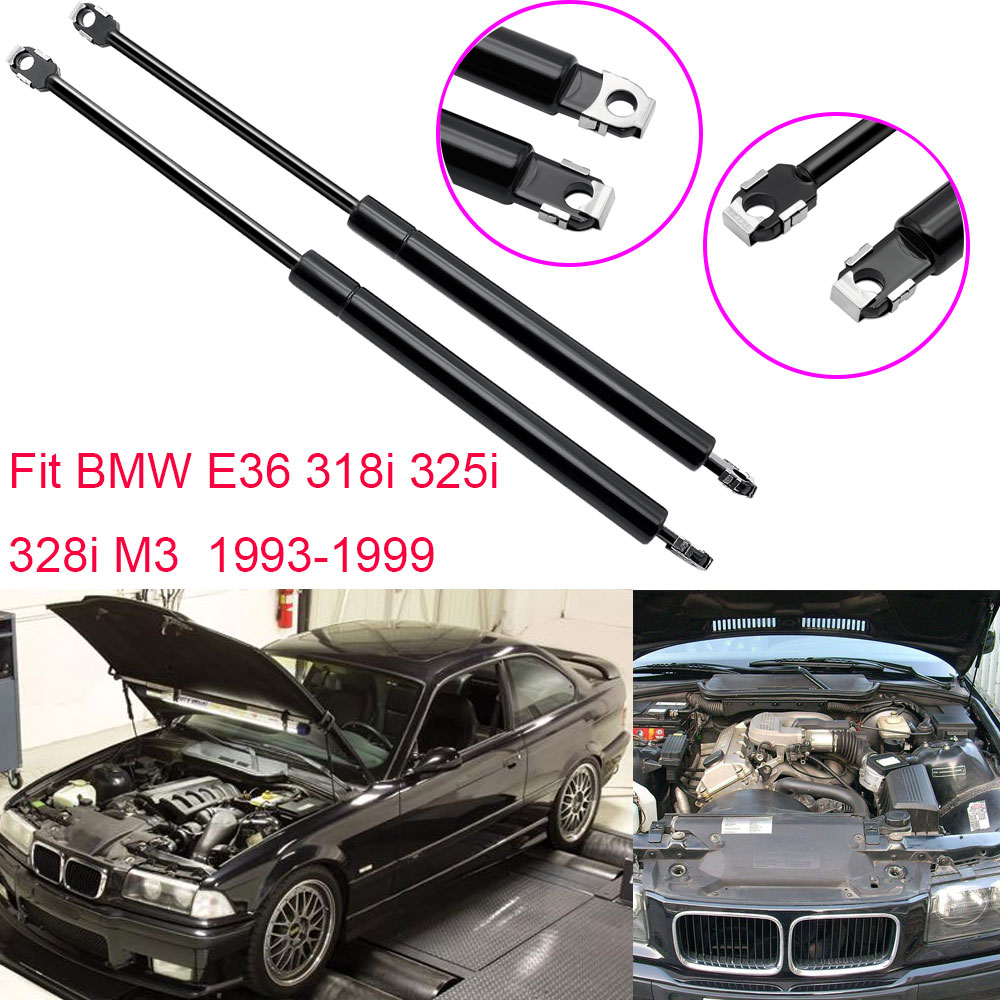2x Tailgate Trunk Lift Supports Struts for BMW E36 318is 325i 328i M3 W// Spoiler