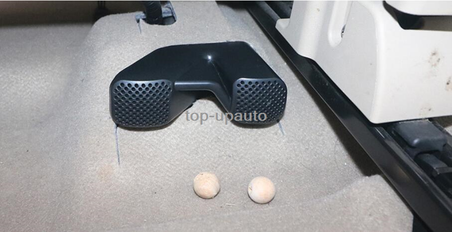 2*ABS Black Seat under the outlet dust cover For 2014-2018 Nissan Rogue x-Trail